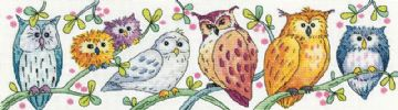 Owls on Parade  from  Karen Carter Collection Cross Stitch Kit